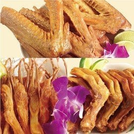 【加意蜂蜜茶鵝】鵝翅(300g)+鴨腳(11隻)+鴨舌(8隻)-含運價