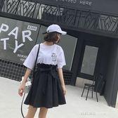 花苞裙女夏季新款韓版a字裙綁帶ins半身裙學生a字短裙子   時尚潮流