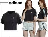 現貨 ADIDAS ORIGINALS CROPPED 短版 休閒 短袖 黑色 DV0112