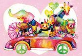 【拼圖總動員 PUZZLE STORY】一起去兜風(作者:佐藤玲奈) 日本進口拼圖/AppleOne/繪畫/300P