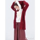 CANTWO兔毛領長版毛衣外套(共四色)~秋冬新品上架