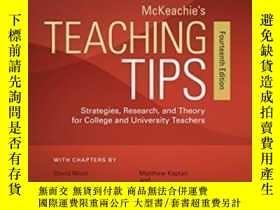 二手書博民逛書店Mckeachie s罕見Teaching Tips-麥凱奇的教學技巧Y436638 Wilbert Mcke