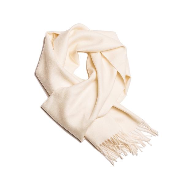 Alpaka Scarf Exclusive 100% 30x200cm 極致系列 素面單色 羊駝毛 超輕量 圍巾(雪白天地)