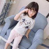 女童純棉短袖T恤夏裝兒童女寶寶可愛上衣打底衫「Chic七色堇」