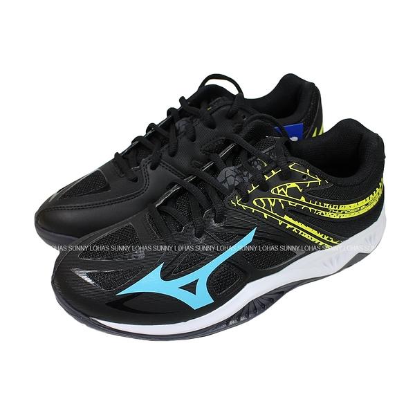 (C1) MIZUNO 美津濃 THUNDER BLADE 2 排球鞋 V1GA197023 黑藍 [陽光樂活]