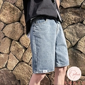 牛仔短褲男百搭大碼夏季外穿百搭五分中褲男休閑褲【大碼百分百】