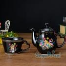 日本SEGA PLAZA 景品 愛麗絲夢遊仙境陶瓷壺杯組
