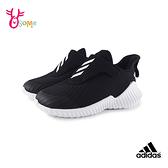 adidas童鞋 寶寶鞋 FORTARUN AC K輕量跑步鞋小童鞋 魔鬼氈男童鞋 S9307#黑白◆OSOME奧森鞋業