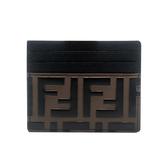 【台中米蘭站】全新品 FENDI FF LOGO 牛皮名片夾 (8M0269-黑)