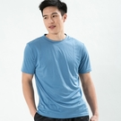 男款排汗T  CoolMax 吸濕快乾 機能涼感 舒適運動 空藍色