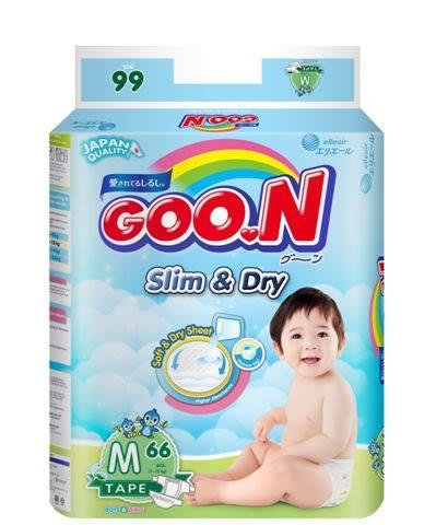 日本大王GOO.N 國際版黏貼型紙尿褲M66片(串)