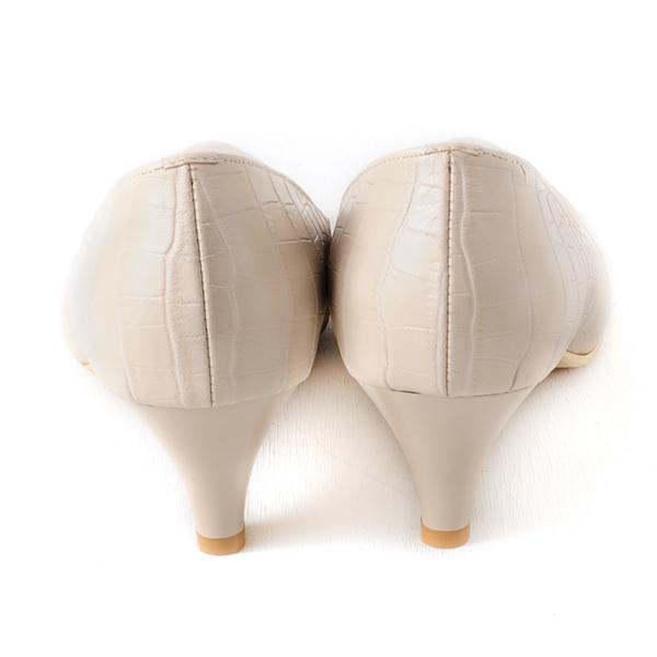 DeSire  氣質首選羊皮百搭跟鞋  -米