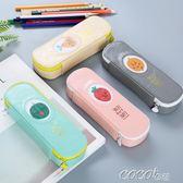 筆袋  筆袋女簡約筆盒創意文具盒男大容量筆袋小學生用多功能翻蓋文具袋 新品