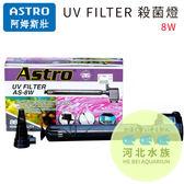 河北水族ASTRO 阿姆斯壯~UV FILTER 殺菌燈8W ~AS 8W