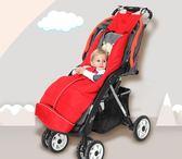 寶寶推車睡袋秋冬季保暖加厚防風新生兒防踢被兒童出游嬰兒抱被