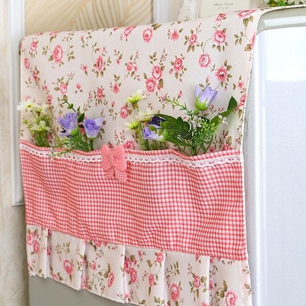 對開門單雙開門布藝冰箱蓋布家用蕾絲冰櫃防塵罩滾筒洗衣機蓋巾簾『新佰數位屋』