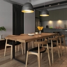 北歐實木餐桌家用小戶型現代簡約簡易吃飯桌...