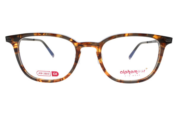 Alphameer 光學眼鏡 AM3805 C04 (透琥珀-黑) 時尚簡約風 塑鋼眼鏡 # 金橘眼鏡