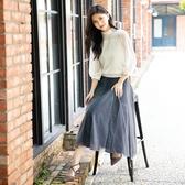 梅春7折[H2O]烏干紗拼接蕾絲波浪紗裙 - 藍/黑/粉色 #0632019