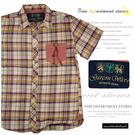 【大盤大】garcon wave 男 純棉襯衫 L號 夏 格紋 短袖 格子襯衫 厚款 蘇格蘭 百貨專櫃 夏 禮物