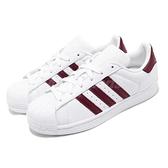 【五折特賣】adidas 休閒鞋 Superstar W 白 紅 基本款 皮革鞋面 小白鞋 女鞋 運動鞋【ACS】 D97999
