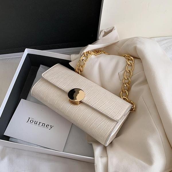 法國小眾包包女2021流行新款潮韓版網紅質感手提鏈條包單肩腋下包 霓裳細軟