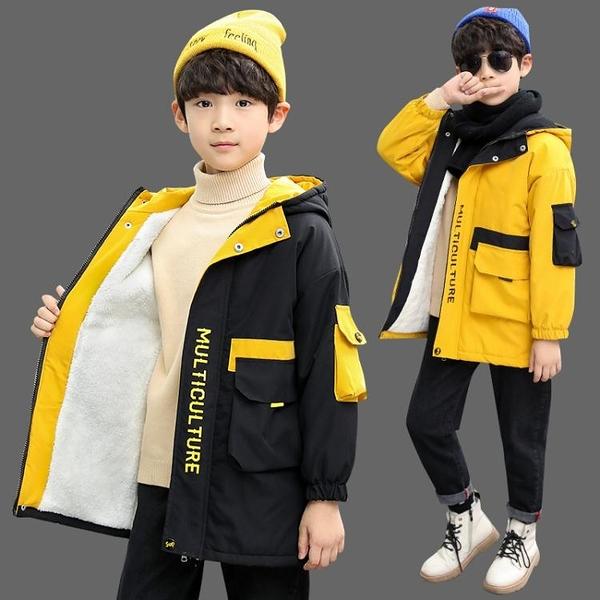 男童外套秋冬款2020新款大童加絨加厚冬裝兒童洋氣冬季男孩童裝潮【快速出貨】