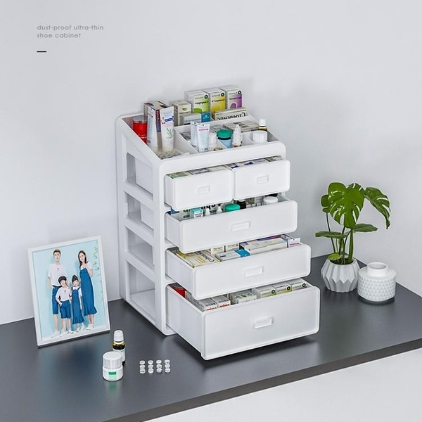 藥品醫藥箱小型藥盒用品家用家庭裝箱收納盒多層大容量醫護箱 小宅君