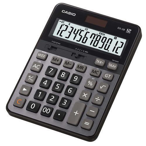 原廠公司貨 DS-2B 卡西歐CASIO DS-2B 12位數專業型計算機