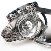 POLICE 義大利精品 限量 個性潮流 骷髏頭 顝顱頭 男錶 不銹鋼 防水 手錶 手環 精裝盒 15530SKS-SET1