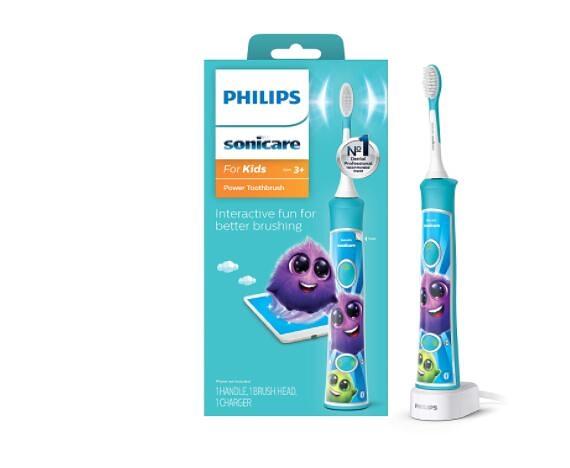 [2美國直購] 兒童音波電動牙刷 Philips Sonicare for Kids HX6321/02 Bluetooth Connected Rechargeable