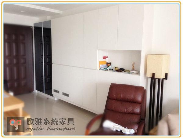 【歐雅 系統家具 】鏡面鞋櫃+入口玄關櫃