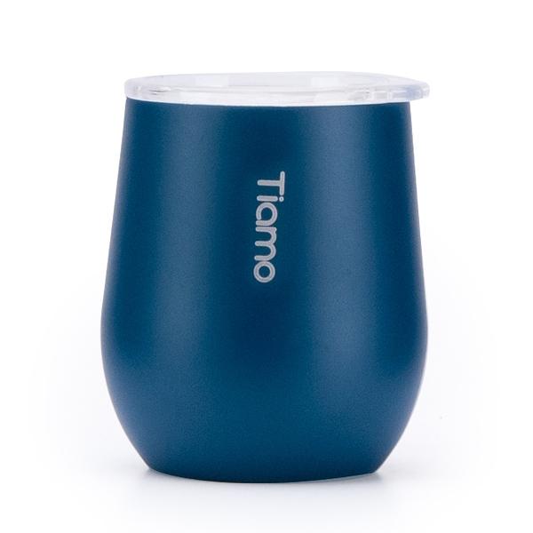 金時代書香咖啡 Tiamo 真空陶瓷弧形杯 200ml 藍 HE5156BL