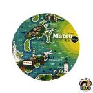 【收藏天地】台灣紀念品*神奇的陶瓷吸水杯墊-馬祖地圖∕馬克杯 送禮 文創 風景 觀光  禮品