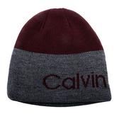 CalvinKlein CK 經典logo雙面兩用毛帽(酒紅色)103101-3