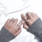 日韓簡約關節戒指組合潮人飾品開口尾戒指環對戒女復古配飾J020