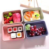 小麥秸稈日式微波爐飯盒 學生便當盒餐盒成人密封保溫飯盒長方形#qf6679【黑色妹妹】