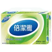 倍潔雅超質感抽取式衛生紙100抽*14包【愛買】