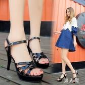 恨天高細跟女涼鞋11cm超高跟鞋走秀演出鞋 yu1865『男人范』