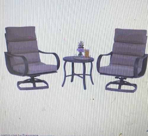 [COSCO代購] C1031560 REGENCY 3PC 戶外軟墊桌椅3件組 茶几X1/椅子X2