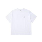 FILA 男款白色圓領上衣-NO.1TEV-1506-WT