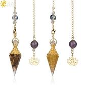 速賣通爆款混合靈氣天然靈擺水晶吊墜瑜伽鍍金佛打坐意念集中飾品