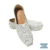 TOMS 經典蕾絲懶人鞋-女款(10009299 SILVER)