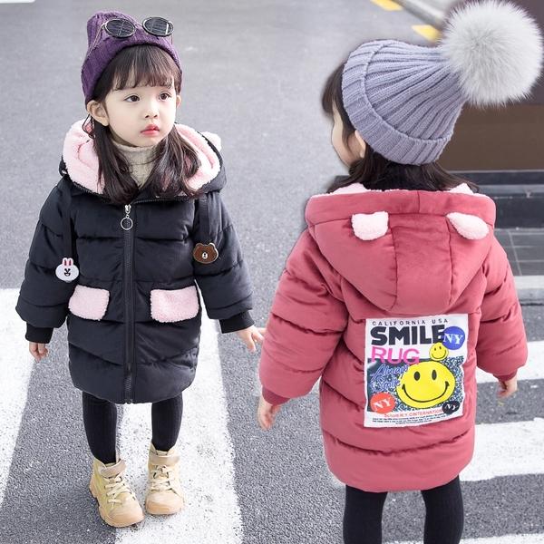 1歲女寶寶棉衣 加厚兒童棉襖 女寶寶羽絨服 女童棉服 寶寶洋氣外套冬裝