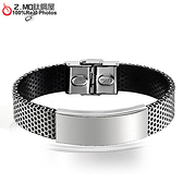 [Z-MO鈦鋼屋]西德白鋼皮手環/簡約時尚/精緻設計/時尚款式搭配單件價【CKLS757】