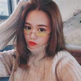 墨鏡 新款復古眼鏡女潮韓版時尚歐美圓形小框墨鏡嘻哈個性街拍太陽眼鏡 夢藝家