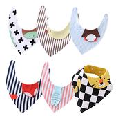 立體卡通兒童三角巾 嬰兒雙層純棉口水巾 立體動物造型圍兜 88493