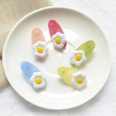 雞蛋造型繽紛果凍髮夾 兒童髮飾 邊夾 碎髮夾