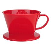 金時代書香咖啡  Tiamo 101 AS咖啡濾器 1-2杯份 紅色  HG5284