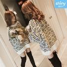 【V2770】shiny藍格子-慵懶隨意.配色圓領寬鬆長袖針織毛衣上衣